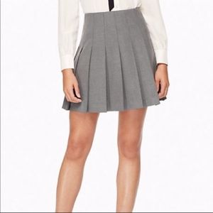 GUC Kate Spade New York Gray Pleated Mini Skirt